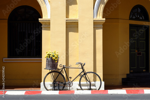 Fotografie, Obraz  Vintage bicycle on the street at Phuket old town, Thailand.