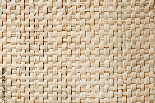 Photo  Light wicker texture, closeup