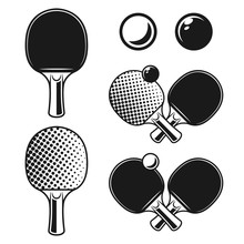 Ping Pong, Table Tennis Vector...