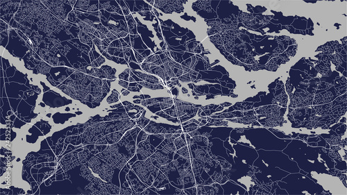 Cuadros en Lienzo map of the city of Stockholm, Sweden