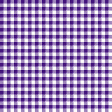Purple Gingham Seamless Pattern - Traditional Purple And White Gingham Seamless Pattern