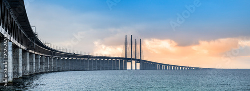 Fotobehang Brug The Oresund bridge panorama