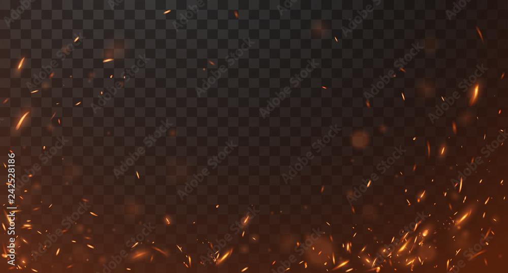 Fototapety, obrazy: Fire sparks background