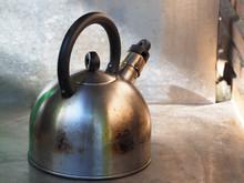 Old Metal Whistling Kettle.