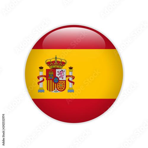 Spain flag on button