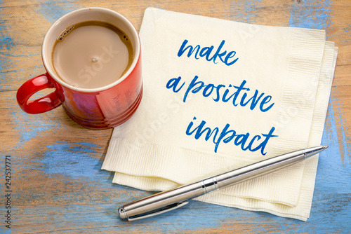 make a positive impact Canvas