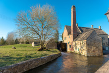 Water Mill In English Countrys...