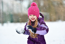 Child Girl Running In A Park I...