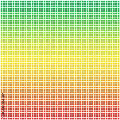 Fotografie, Obraz  Rasta color flag dotted pixel