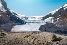 Athabasca Glacier In Jasper National Park, Alberta, Canada.