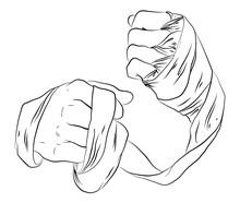 Bandaged Fists / Outlines,contour Line