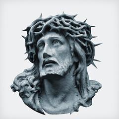 Antique statue of Jesus Chr...