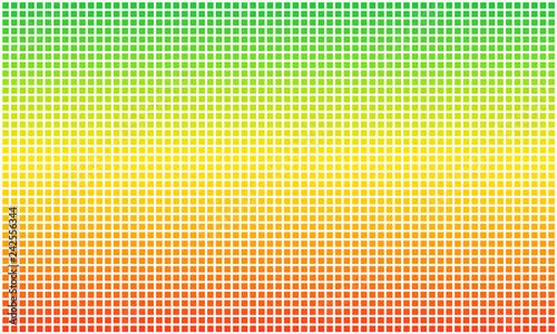 Obraz na plátně Rasta flag dotted pixel. Aspect ratio 3:5