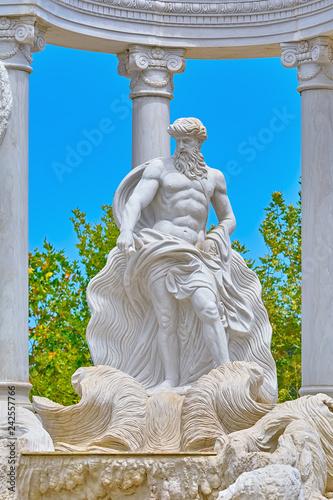Keuken foto achterwand Historisch mon. Statue of Poseidon