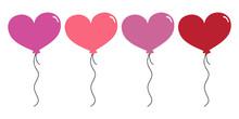 Heart Balloons - Valentine's Day Balloon Set