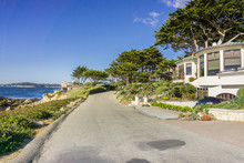 Driving On The Pacific Ocean Coast, In Carmel-by-the-sea, Monterey Peninsula, California