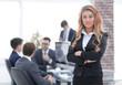 portrait of pensive business woman