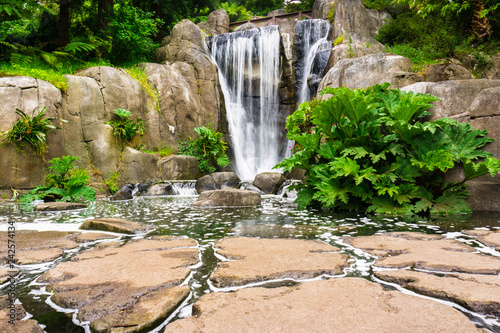 Huntington Falls, an artificial waterfall in Golden Gate Park, San Francisco, California