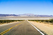 Highway through the Mojave Desert, California