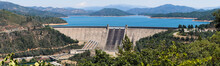 Panoramic View Of Shasta Dam O...