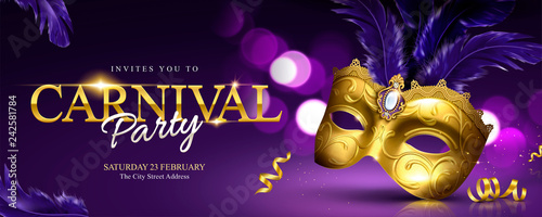 Obraz Carnival party banner design - fototapety do salonu