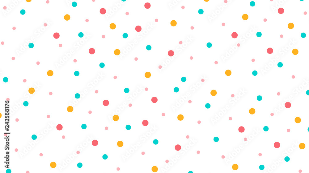 Fototapety, obrazy: Abstract seamless pattern with Circle in Soft gradient pastel background in sweet color