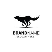 Running Wolf Logo Template Iso...
