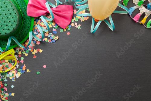 Obraz na plátně Geburtstag Karneval Party Hintergrund