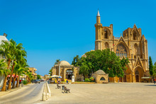 Old Town Of Famagusta With Lala Mustafa Pasa Mosque, Cyprus