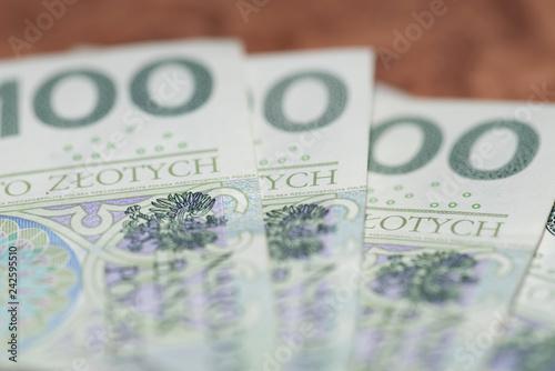 Fotografía  Nahaufnahme vom Polnische Zloty PLN Geldschein