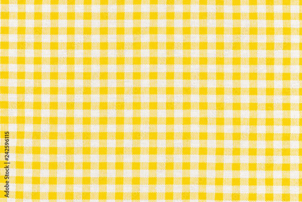 Fotografie, Obraz motif carreaux jaunes tissu Vichy
