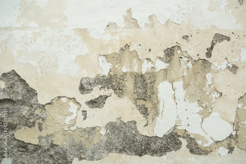 Old wall texture  color abrasion cracked cement , the old paint texture is chipping and cracked fall destruction concrete vintage wall for design Wallpaper Mural