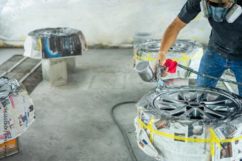 Fotografía  Automobile disc restoring