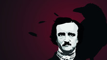 Writer Edgar Allan Poe Vector Background