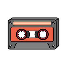 Cartoon Cassette Tape