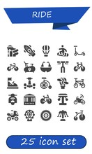 Vector Icons Pack Of 25 Filled Ride Icons