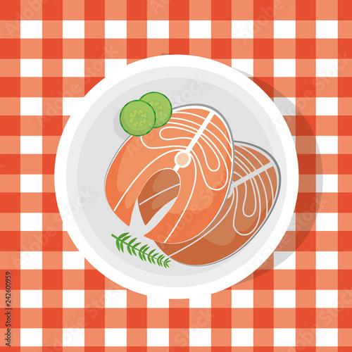 Fotografie, Obraz  delicious food cartoon