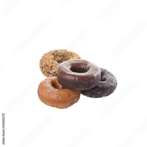 Fotografía  donuts or delicious donuts on a background.