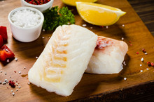 Fresh Raw Cod With Herbs And V...