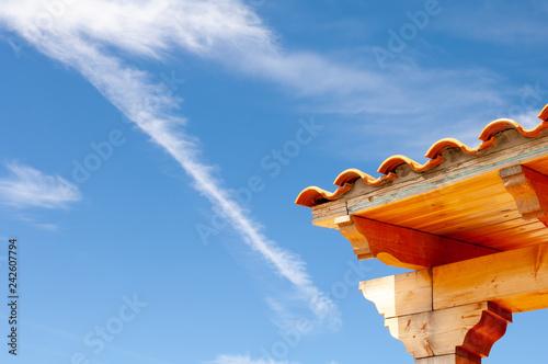 Valokuva  coin de toiture ciel, roofing corner sky