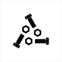 Nut And Bolt Icon, Hex Nut