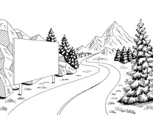 Mountain Road Billboard Graphi...