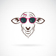 Vector Of Sheep Wearing Sungla...