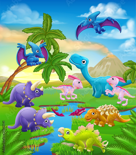 a-dinosaur-cartoon-cute-animal