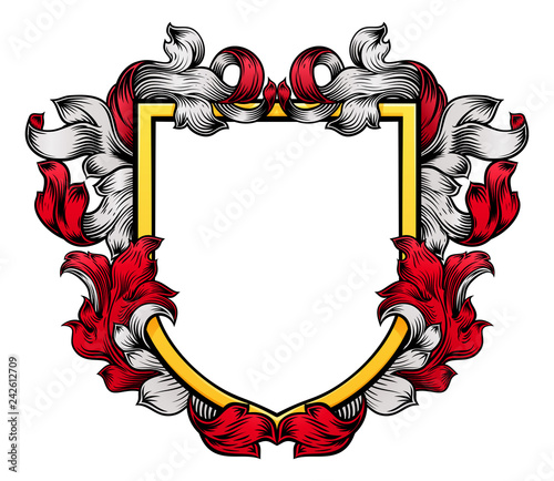 Cuadros en Lienzo A coat of arms crest heraldic medieval knight or royal family shield