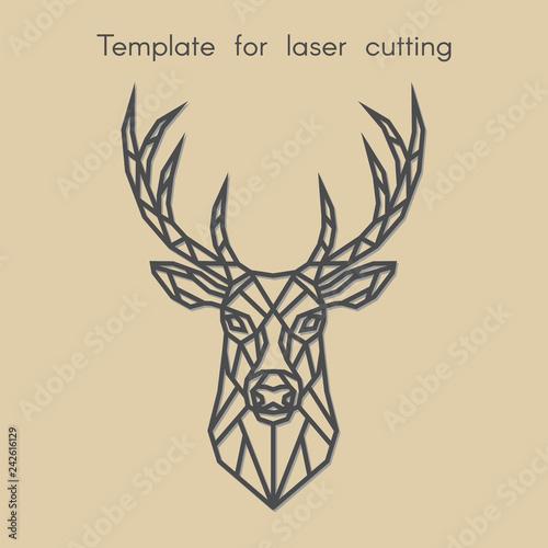 Fotografía Template animal for laser cutting