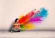 canvas print picture - powder explosion