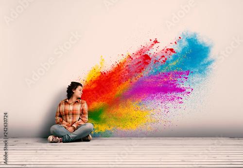 Photo  powder explosion