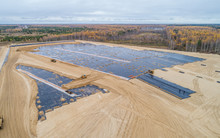 The Construction Of The Landfill And Installation Of Geomembrane