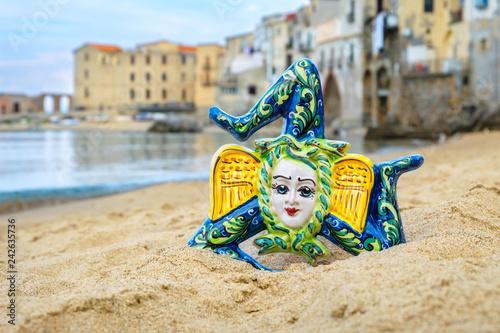 Fotografía  Ceramic Trinacria. Cefalu, Sicily, Italy